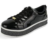 763cfb9e8c Dafiti. Tênis Plataforma Flatform Cr Shoes 4034L Preto Verniz