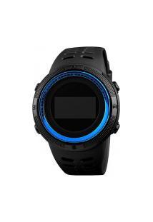 Relógio Skmei Digital -1360- Preto E Azul