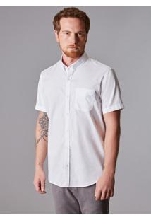 Camisa Mc Oxford Pima Leve Reserva Branco