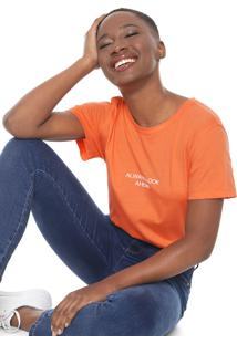 Camiseta Colcci Neon Always Look Ahead Laranja
