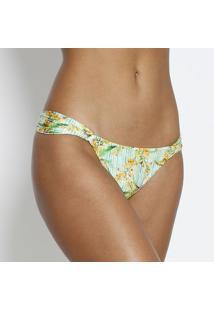 Calcinha Tanga Floral Com Recortes & Solar Max® 50+- Vercia Marítima