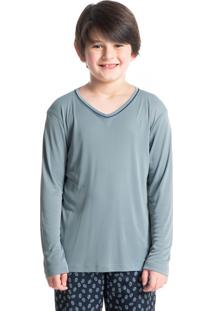 Pijama Infantil Masculino Longo Estampado Clóvis