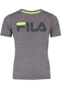 Camiseta Fila Dna Mescla Feminina - Infantil - Cinza
