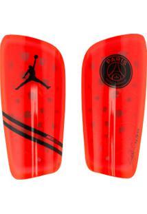 Caneleira De Futebol Jordan X Psg Nike Mercurial Lite - Adulto - Laranja/Preto