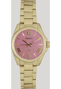 509be7a8521 Relógio Analógico Orient Feminino - Fgss0079 R3Kx Dourado - Único