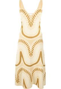 Alice Mccall Vestido Midi Windswept - Amarelo