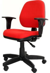Cadeira Corporate Executiva Cor Vermelho Com Base Nylon - 43942 Sun House