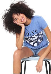 Camiseta Fiveblu Love Azul