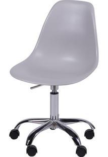 Cadeira Eames Com Rodizio Polipropileno Cinza - 24127 - Sun House