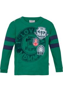 151f0c69a Camiseta Manga Longa Infantil Rovitex Love Masculino - Masculino