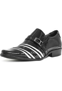 Sapato Social Gofer 635 Co Verniz Pretobranco