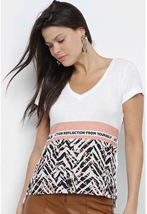 Camiseta Acostamento Action Reflection Fron Yourself Feminina - Feminino-Preto