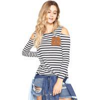 1e09ff0030 Blusa Hang Loose Stripes Mermaids Branca Azul