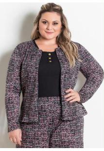 Jaqueta Abstrata Marguerite Plus Size