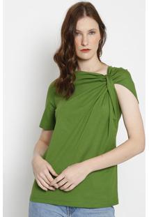 Camiseta Lisa Com Torã§Ã£O- Verde- Colccicolcci