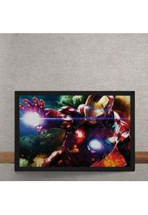 Quadro Decorativo Homem De Ferro Vingadores Marvel 25X35