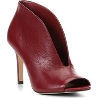 f2459ac2b0 Sandália Couro Shoestock Vamp Salto Fino Feminina - Feminino-Vinho