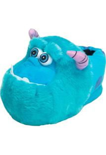 Pantufa 3D Sulley Monstros S.A Ricsen Azul