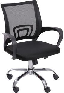 Cadeira Para Escritório Com Rodízios Tok 3310-Or Design - Preto