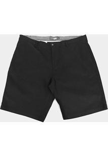 Bermuda Gajang Lisa Plus Size Masculina - Masculino-Preto