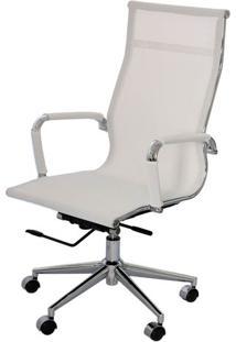 Cadeira Eames Telinha Alta Branca Cromada - 16791 - Sun House