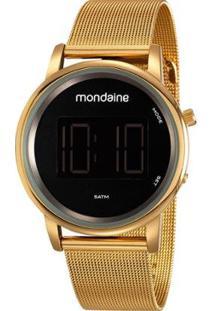 Relógio Mondaine Digital Lcd Feminino - Feminino-Dourado