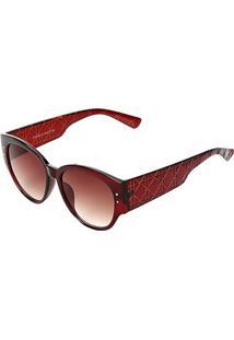 Óculos De Sol Marielas Degradê Feminino - Feminino-Marrom