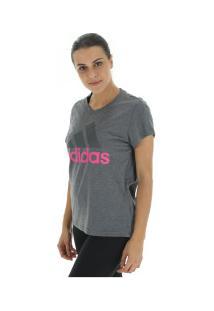 c79d41d9a26 Camiseta Adidas Essentials Li Sli - Feminina - Cinza Esc Rosa
