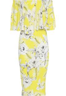 Vestido Floral - Amarelo