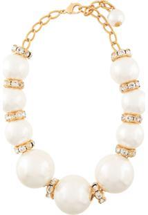 Dolce & Gabbana Colar Com Aplicações - Branco