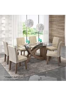 Conjunto De Mesa & Cadeiras Flávia Para 6 Lugares- Marrocimol