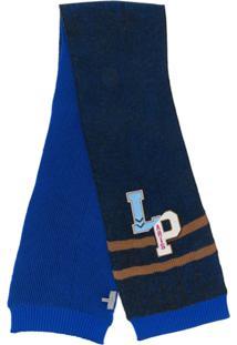 Lanvin Cachecol Com Patch De Logo - Azul