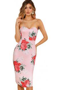 Vestido Lovely Flowers - Rosa