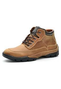 Bota Cano Curto Over Boots Destroyer Couro Caramelo