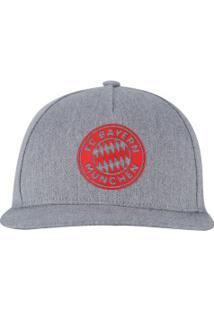 Boné Aba Curva Bayern De Munique Cw Adidas - Snapback - Adulto - Cinza adf4ee5dd52