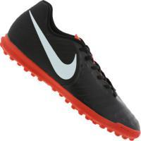 Centauro. Chuteira Society Nike Tiempo Legend X 7 Club Tf - Adulto - Preto Cinza  Claro 96eb32fa204d8