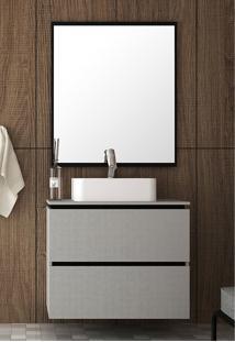 Conjunto Para Banheiro Urban Argento/Preto Bosi