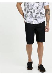 Bermuda Jeans Mr Masculina - Masculino-Preto
