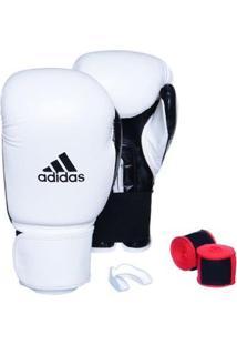 Kit Luva Adidas Power 100 Colors + Bandagem + Bucal - Unissex