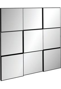 Painel Decorativo Tb86 Espelhado 0.75M Preto Brilho
