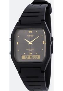 Relógio Unissex Casio Aw 48He 1Avdf Analógico/Digital 5Atm