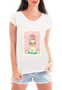 Camiseta Criativa Urbana Menina Mulher Intelectual Branca