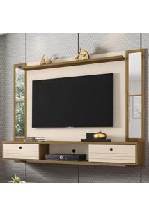 Painel Para Tv Até 60 Polegadas Ametista 2 Portas Cinamomo/Off-White - Móveis Bechara