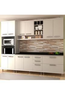 Cozinha Completa New Vitoria 17 Branco Tx/Bianco - Hecol