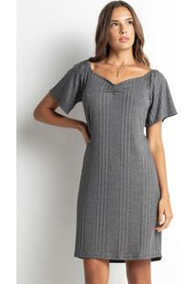 Vestido Feminino Ciganinha Cinza