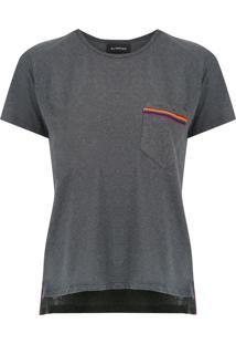 T-Shirt Com Bolso Olympiah Camino Chumbo