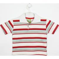 dc2669e9b5 Camiseta Infantil Lucyval Manga Curta - Masculino-Branco+Vermelho