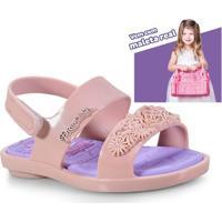 55e7394898 Kinei. Sandalia Fem Infantil Grendene 21863 24831 Princesas Castelo Real  Rosa Violeta