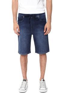 Bermuda Jeans Cavalera Reta Leonardo Azul-Marinho