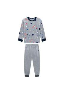 Conjunto Pijama Estampado Mescla Médio Onda Marinha Multicolorido